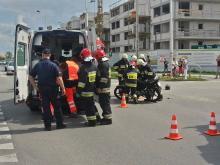 50-letnia motocyklistka ranna w wypadku na Alei Solidarności