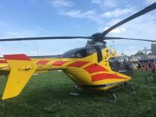 Helikopter LPR lądował na opolskiej Malince