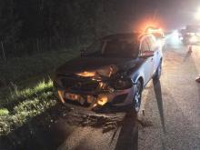 5 samochodów rozbitych na autostradzie