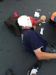 Rowerzysta potrącony na rondzie w Opolu