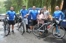 Policjanci z Opola jadą rowerami nad morze, by wspomóc Laurę Biel