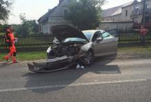 Wypadek w Polskiej Nowej Wsi, ranny starszy mężczyzna