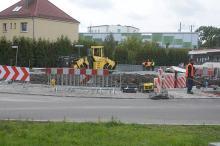 Opóźnienie przy budowie ronda na Chabrach