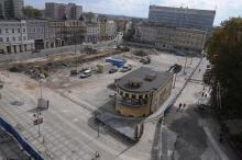 Na Placu Kopernika prace postępują naprzód