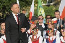 """Andrzej Duda: """"Ogromnie boleję nad tym, gdy ktoś zaczyna mówić o Polsce tylko dla Polaków"""""""