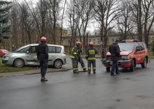 Kolizja brzeskich strażaków. Kobieta nie ustąpiła pierwszeństwa przejazdu