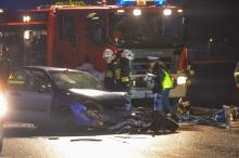 Nietrzeźwy kierowca wyprzedzał na trzeciego na obwodnicy. 4 osoby ranne