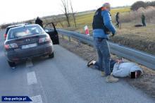 Pościg CBŚP za narkotykowymi dilerami pod Kędzierzynem-Koźlem