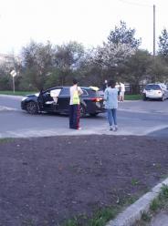 Zderzenie Toyoty i Mercedesa na Cieszyńskiej