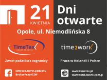 Poznaj time2work i TimeTax w trakcie dni otwartych