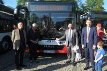 Nowe autobusy MZK z nazwami miast partnerskich