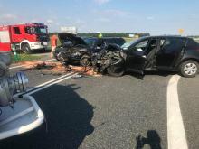 Nieustąpienie pierwszeństwa przyczyną zderzenia 3 aut na obwodnicy Opola