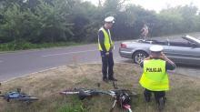 6-latek jadący na rowerze wjechał wprost pod pędzący samochód