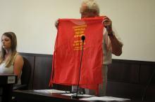 Stanął przed sądem za użycie megafonu przed Prokuraturą. Twierdzi, że pikieta była legalna