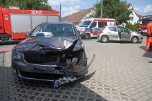 Zderzenie na ulicy Popiełuszki. 4 osoby zostały przewiezione na badania