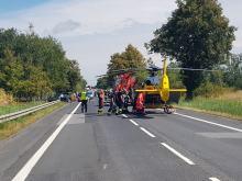 Prądy: Motocyklista ciężko ranny po zderzeniu z osobówką