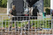 Na placu budowy obok stacji BP przy ul. Bohaterów Monte Cassino wykopano lufę moździerza