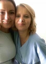 Aktorka Joanna Kulig na planie filmowym w Kluczborskim szpitalu