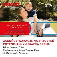 Rejestracja potencjalnych dawców szpiku w ten weekend w CH Turawa Park