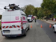 Zablokowana droga po rozszczelnieniu gazociągu w Mechnicach