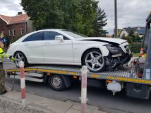 Kolizja 3 samochodów na ulicy Eichendorffa w Opolu