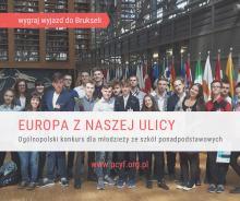 """Do końca października młodzież może zgłosić swój udział do konkursu """"Europa z naszej ulicy"""""""