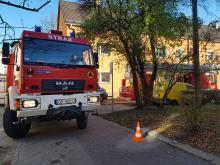 Pożar mieszkania przy ulicy Pawła Stalmacha w Opolu
