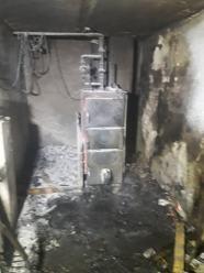 Pożar kotłowni w Mosznej
