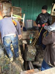 Skradziony sprzęt budowlany zakopał 2 metry pod ziemią