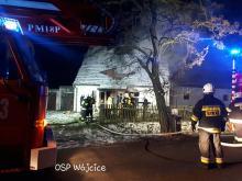 Dom jednorodzinny w Mesznie spłonął doszczętnie. Czy to było podpalenie?