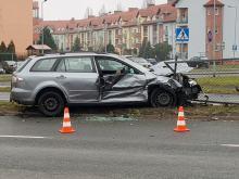 Zderzenie Mazdy z Kią na ulicy Sosnkowskiego