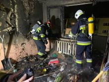 Pożar mieszkania na osiedlu Piastów w Zdzieszowicach, ranna lokatorka