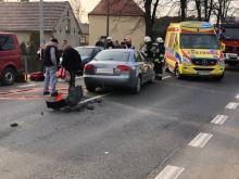 Zderzenie kilku aut na ulicy Strzeleckiej w Opolu