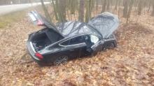 Wypadek w Smolarni. Kierowca pod wpływem alkoholu