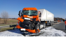 Zderzenie ciężarówek na opolskim odcinku A4 spowodowało wielkie korki