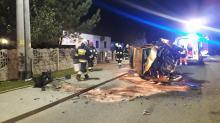 Dwie osoby ranne po wypadku w Dąbrówce Górnej