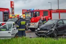 W Opolu-Wrzoskach zderzyły się pojazdy. Droga już przejezdna