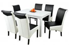 Stoły z krzesłami - zestawy dla małej i dużej rodziny