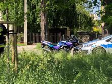 Zderzenie motocykla i osobówki na Prószkowskiej
