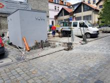 Montaż drugiej toalety bezdotykowej w centrum Opola utrudniał dojazd do pracy