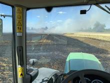 Pożar zboża na pniu w Źlinicach. W akcji 12 zastępów straży pożarnej