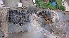 Pożar budynku inwentarskiego w Suchodańcu. Udało się uratować bydło