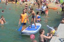 """Zabawy konkursy i nauka na kąpielisku Bolko. Kolejna odsłona akcji """"Bezpiecznie nad wodą"""""""