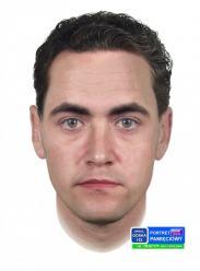 Portret pamięciowy mężczyzny podejrzewanego o kradzież