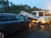 Kolizja pojazdów na A4 w kierunku Katowic