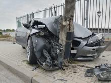 Poranny rajd nietrzeźwego kierowcy BMW zakończył się na latarni