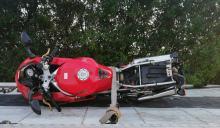 Wypadek w gminie Lewin Brzeski. Nie żyje motocyklista