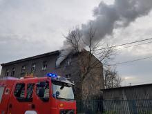 Pożar pustostanu przy Alei Przyjaźni w Opolu