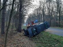 Wypadek pod Namysłowem. 3 osoby w szpitalu