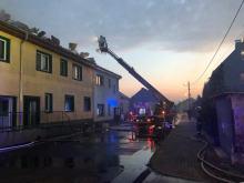 Trwa szacowanie strat po pożarze budynku w Bierawie